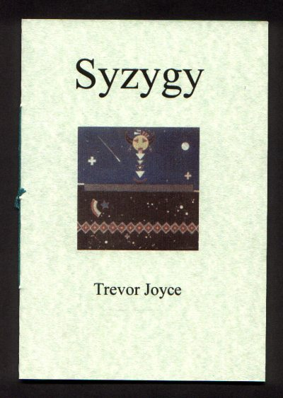 Cover of Syzygy by Trevor Joyce